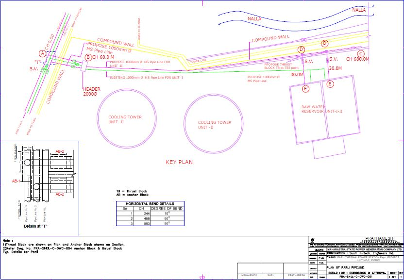 Detail Design & Preparation Of Execution Drawing For Pipe Line For Paras And Parli  Tps Expn Project Reg.